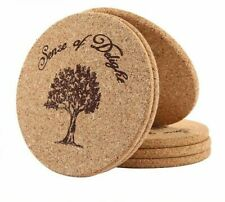 Round Coasters Kitchen Cup Holder Place Mats Dining Table Accessories Wood 6 Pcs