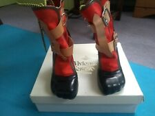 *Rare* Vivienne Westwood Red Bondage Boots, UK Size 3, Sold Out Online