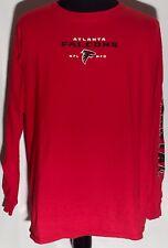 Atlanta Falcons ATL NFL Football Team NFC South Logo XL Red Long Sleeve T-shirt