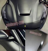 "12"" x 60"" - Hot Car Grey Metallic Matte Chrome Satin Vinyl Wrap Sticker Decal AB"
