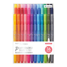Tombow Play Color 2 Water-Based Pens - Set of 36 Colors 0.4mm & 1.2mm Dual Brush