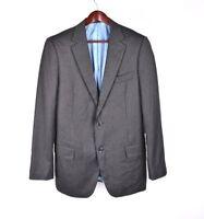 Suit Supply Herren Reine Wolle Grau Jacke Blazer Größe 98