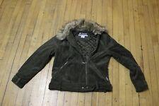 Women's olive green Columbia fur collar jacket size L