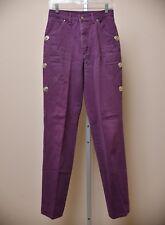 VTG Roughrider High Waist Mom Jeans Cowgirl Purple Denim Women's size 9/10 x 35