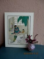 antique illustration of Japanese girl and doll by Katharine Sturges 1925