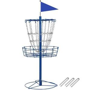 Disc Golf Goal Basket Practice Frisbee Game Target Cross Chain Outdoors Portable
