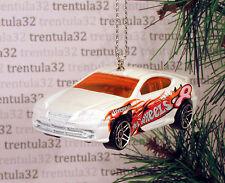 HYUNDAI TIBURON RALLY RACE CAR WHITE ORANGE RACING CHRISTMAS ORNAMENT XMAS