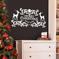 Buon NATALE Muro Decorativo / Finestra Decalcomania Adesivo Xmas homw / SHOP SANTA NEVE
