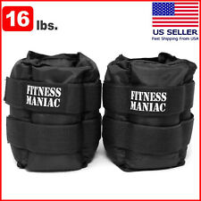 Adjustable Strap Ankle Wrist Weights Fitness Training Leg Exercise 16 lb