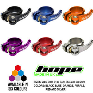 Hope Quick Release QR Seat Seatpost Clamp - All Colors and Sizes - Brand New