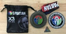 New! 2020 Spartan Race Medal X3 Tribe Trifecta/Delta (with Patch and Delta Coin)