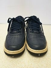 NIKE AIRFORCE 1 MEN BLUE/GREY LEATHER LACE UP TRAINERS SIZE UK 7.5 EU 42 VGC