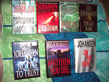 Lot of 7 Suspense Books by IRIS JOHANSEN HARDCOVER BOOKS ALL EXCELLENT