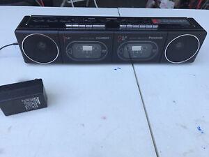 1986 Panasonic RX-F11 Dual Deck Boombox Radio Rare Mini Ghetto Blaster