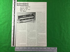 Vintage Article crumar Multiman Clavier-août 1976