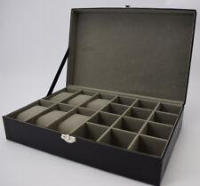 NEW Lizard Skin Watch and Cufflinks Box Storage Case Organiser Mens Fathers Gift