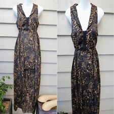 $85 NWT JUNK CLOTHING hi-lo MAXI MINI DRESS 10 animal GEOMETRIC brown BLACK NEW