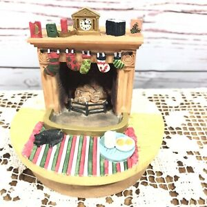 Our America Yankee Candle Christmas Fireplace Jar Topper