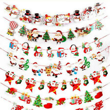 Christmas Party Banner Hanging Snowman Santa Claus Elk Decor Supply Ornaments