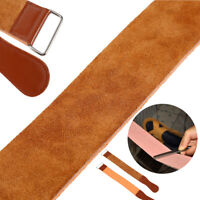 Leather Manual Strop Straight Barber Shaving Razor Blade Sharpen Strap Brown ML