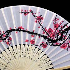 Pocket Decor Wedding Hand Flower Folding Plum Fan Bamboo Blossom