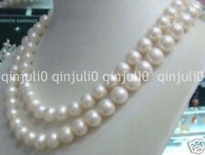 """Charming 8-9mm White salt water Pearl Necklace 34"""" JN1175"""