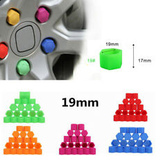 100Pcs 19mm Car silicone wheel nut covers Protector Hub Screw Rim Dust Cover