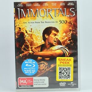 Immortals DVD R4 Movie Film Good Condition Free Tracked Post AU