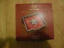 Lenox American by Design Everyday Soiree Metal Napkin Box Snowflake New