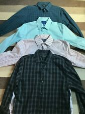 Lot of 4 Marc Anthony APT 9 button-front short-sleeve dress shirts 15.5 32/33