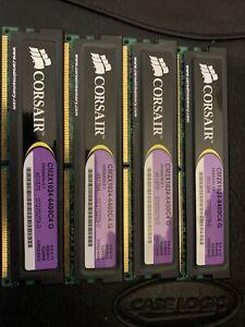 Lot of 2 4 Corsair XMS 1 GB PC2-6400 Computer Memory RAM CM2X1024-6400C4