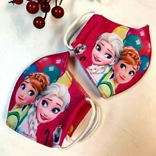 (Pack Of 2) Children Kids Girl Fabric Face Mask Cover Handmade Frozen New