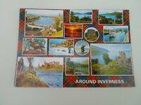 AROUND INVERNESS - Vintage Nostalgic Multiview Postcard. §F475