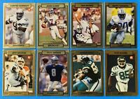 (8) 1990 Actiond Packed Football Card Lot Aikman Sanders Seau George RCs