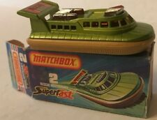 Rare 1975 Matchbox Superfast 75 Rescue Hovercraft Lesney England New In Box #2