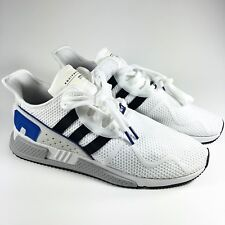34c1f0d007746 Adidas Men s 11.5 Eqt Cushion Adv Running Shoes White Black Royal E3