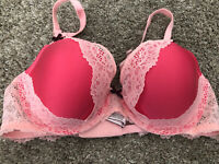 NWOT Victorias Secret Dream Angels Lined Demi 36C Pink Lace
