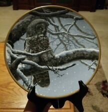 "Hamilton Collection ""Snowy Watch"" Noble Owls of America Collector's Plate"