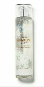 Bath & Body Works FINE FRAGRANCE MIST BODY SPRAY FRESH SPARKLING SNOW 8 Oz New!