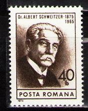 Romania 1974 Sc2551 Mi3243 1v  mnh  Dr. Albert Schweitzer, Medical Missionary