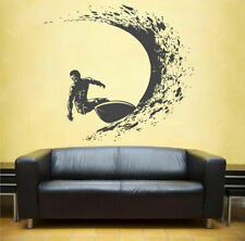ik1120 Wall Decal Sticker surf board wave ocean Hawaii bedroom