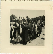 PHOTO ANCIENNE - VINTAGE SNAPSHOT - TOUGGOURT SAHARA ALGÉRIE MUSIQUE 1951