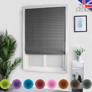 Plisse Blind Pleated Blind Window Curtain Bathroom Kitchen Temporary UK
