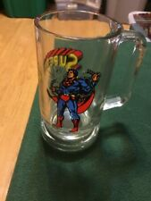 vintage 1978 dc comics SUPERMAN glass mug stein 5.5""