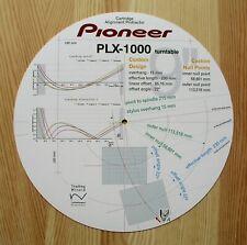 Pioneer PLX-1000 Custom Designed Tonearm Cartridge Stylus Alignment Protractor