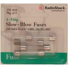 Slow-Blow 4-Amp 250 Volt MDL 3SB 313 MDC Glass Fuses 1-1/4 X 1/4 4A 250V 4/PK