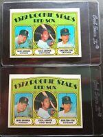 1972 Topps #79 Carlton Fisk RC Lot of 2 Pack Fresh Sharp Boston Red Sox NM+ HOF