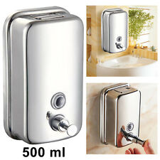 500ML SOAP/SHAMPOO DISPENSER STAINLES WALL MOUNTED STEEL DURABLE PUMP ACTION