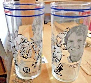 2 NEW OLD STOCK Denis Potvin ISLANDERS Captain Tumbler Sports Hockey GLASSES NOS