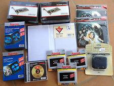 Lote variado, fundas GPS, fundas CD/DVD, albun de fotos, tarjeta PCI, etc  (Nº4)